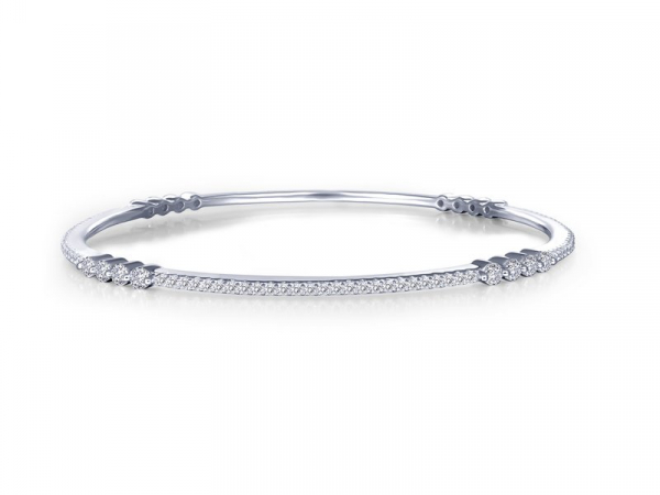 Thin Stackable Bangle Bracelet by Lafonn