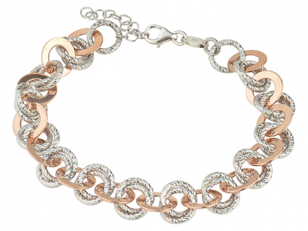 SS Rose Gold Plated Cindy Bracelet by Frederic Duclos
