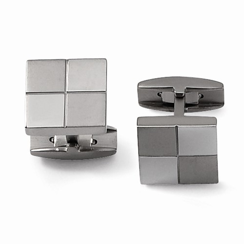 Titanium Square Cuff Links by Chisel