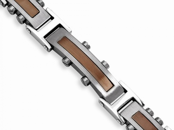Stainless Steel Brown IP-Plated Bracelet by Chisel