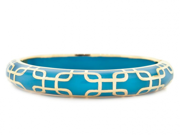 18k YG Plated Sailor Bracelet in Turquoise by Andrew Hamilton Crawford