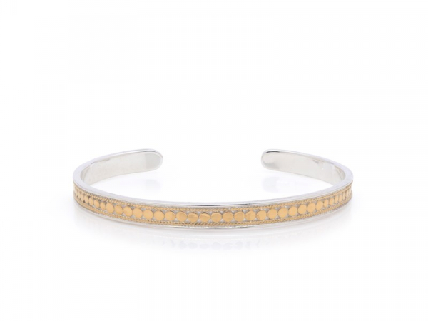 Gold Plated Silver Skinny Cuff Bracelet by Anna Beck