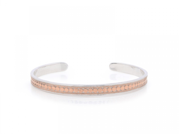 Rose Gold Plated Silver Skinny Cuff Bracelet by Anna Beck