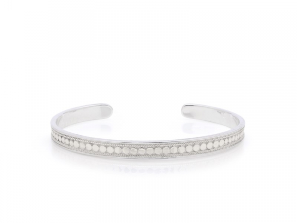 Silver Skinny Cuff Bracelet by Anna Beck