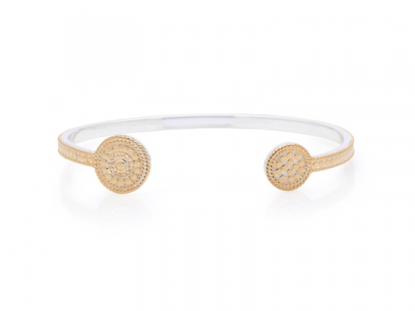 Gold Plated Silver Circle Open Cuff by Anna Beck