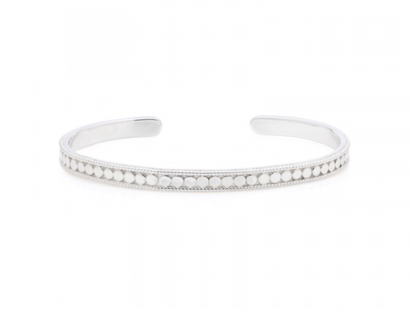 Silver Dotted Stacking Cuff by Anna Beck