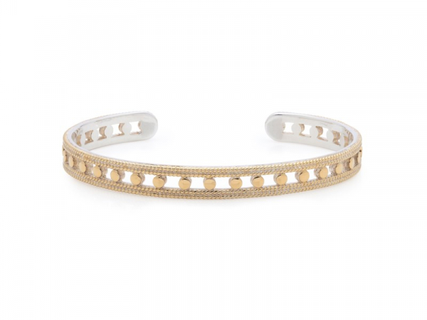 Gold Plated Silver Open Circle Stacking Cuff by Anna Beck